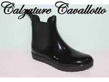 stivale yamamay donna stivaletto pioggia tronchetto ragazza boots nero blk gomma