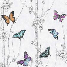 Fresco Great Value Flutter Forest Butterfly Print Wallpaper