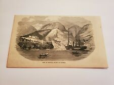 View of Funchal Island of Madeira c. 1854 Engraving (G6)