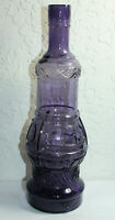 Antique Fancy Purple Large Decanter Bottle