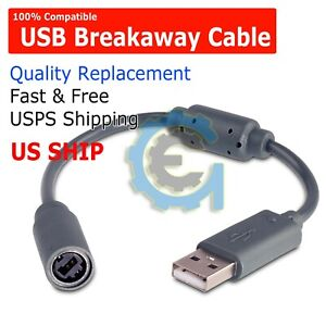 USB Breakaway Dongle Cable Cord Adapter For Xbox 360 PC Wired Controller USA