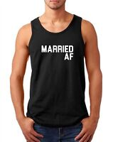 Mens Tank Top Married AF Shirt Funny Valentines T-Shirt Valentine's Day Gift Tee