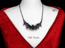 Ladies Gothic Vampire Bat Silver Pewter Necklace and Pendant By Alchemy