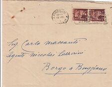 Coppia 2 Lire DEMOCRATICA(552)-Busta Firenze->Buggiano 13.6.1946