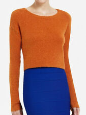 "$148 BCBG AUTUMN  ""IDA""  CROPPED SWEATER TOP NWT XS"