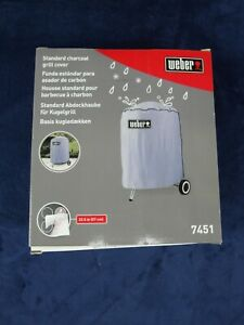 WEBER CHARCOAL GRILL COVER FOR 22.5 INCH GRILL / MODEL 7451 GRAY NIB