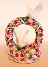 San Francisco Music Box Doves Bird Poinsettias Wreath Wassail Song Ellen Kamysz