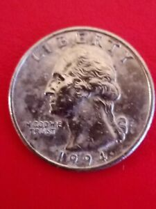 1994 US Washington quarter dollar coin. Circulated & Collectable!