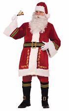 Père Noël Classique Costume de luxe Noël Célébration COMPLET robe costume