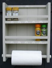 Kitchen Roll Holder/Spice rack, wall mounted, Shabby Chic, Hand made,decorated