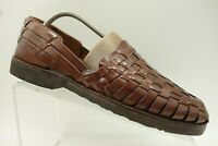Sunsteps Brown Hand Woven Leather Casual Walking Loafers Shoes Men's 8.5