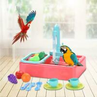 Mini Plastic Bird Bath Basin Pet Parrot Bathtub Birds Cage Bathroom Toys