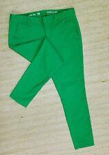 GAP SKINNY MINI KHAKIS Sz 6 GREEN MOMENT LOW STRETCH PANTS ACTUAL 32X27 NICE G54