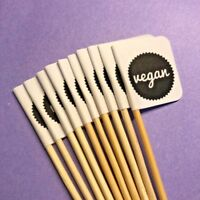 10 x VEGAN PARTY CUP CAKE FLAG Pick Topper Food Allergy Intolerance