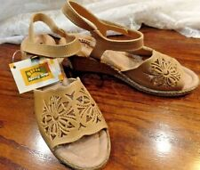 Spring Step New Wedge Sandals Khaki Strap 41 US 8 Leather Comfort Shoes