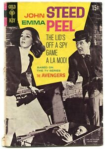 The Avengers 1 FR 1.5 Gold Key 1968 Silver Age John Steed Emma Peel Photo Cover