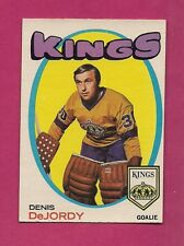 1971-72 OPC # 63 KINGS DENIS DEJORDY  GOALIE VG  CARD  (INV#0967)