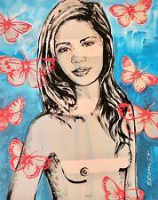 "DAVID BROMLEY Nude ""Jana"" Printers Proof Silkscreen PP 36cm x 28cm"