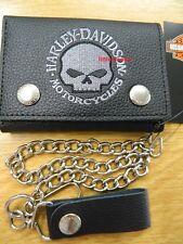 Harley-Davidson Geldbörse Portemonnaie Geldbeutel Wallet Kette/Hartgeld  XML6187