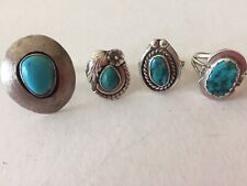 Turquoise Rings Four Sterling