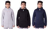 Girls Boys Unisex Kids High low long Zip Hoodie With front Pocket Sweatshirt