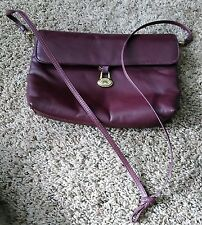 Etienne Aigner Handbags Original Handcrafted Brown Color Medium Size Long Strip
