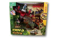 Dino Valley Trex Triceratopo Jeep Elicottero Velociraptor dinosauri NUOVO!!