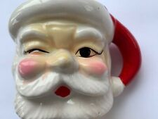 New ListingVintage Christmas Winking Santa Mug Ceramic Japan
