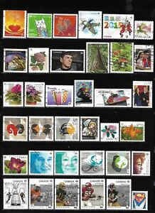 Canada P value 100 different used stamps off paper recent stamps see 3 photos