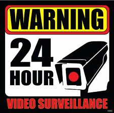 (5) CCTV Surveillance Security Camera Video Sticker Warning Decal Signs (#10055)
