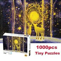 1000 Pieces Puzzles Deer In the Forest Mini Jigsaw Puzzle Toys Games Kids Adults