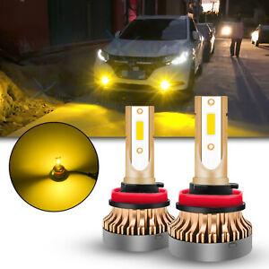 LED H11 Driving Fog Light Bulb Lamp 3000K Bright Golden Yellow Replacement JDM