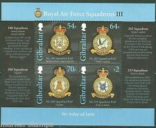 GIBRALTAR 2014 ROYAL AIRFORCE SQUADRON III  SHEET MINT NH