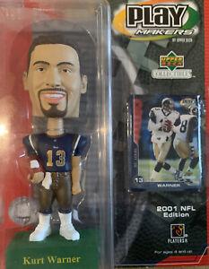 2001 NFL Edition Upper Deck Collectibles Play Makers Kurt Warner Bobblehead