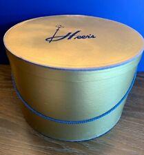 "Vintage Hat Box Heer's Department Store Springfield Mo 10"" Tall 15 1/2"" Diameter"
