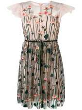 NWT RED VALENTINO floral embroidered flower Tulle dress Size 48 $1295
