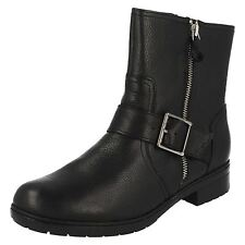 Clarks Casual 100% Leather Upper Boots for Women