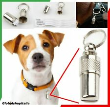 CAPSULA Medaglietta Anti Smarrimento Cane Gatto Targhetta per Collare Pettorina