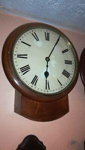 "12"" drop Dial chain Fusee Wall Clock, cast bezel, case needs a bit of work"