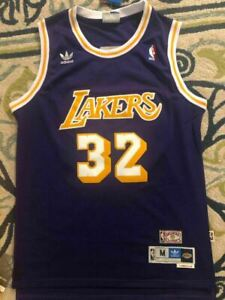 Rétro Magic Johnson #32 Los Angeles Lakers Basketball Jersey Maillots Jaune