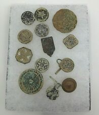 13 Old Spanish Colonial Buttons Collection 18th Century