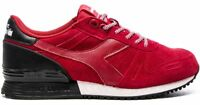 Diadora Men's Titan Suede Fashion Running Shoe, Chili Pepper Red 170123-45043