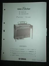 Yamaha Electone B-12I.S B-12IR.SR Part List Catalog Manual B12IS B12IRSR 1975