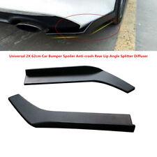 2xABS Black Universal Car Bumper Spoiler Anti-crash Rear Lip Angle Splitter Part