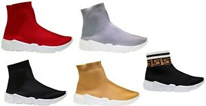 Chunky Sock Trainers Sneakers Slip On High Top Jogging Pumps Shoes Womens Ladies