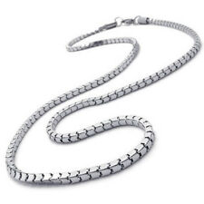 Jewelery Men's necklace, Stainless steel necklace, silver, 3 mm wide, 55 cm R7T8