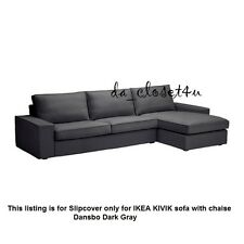 IKEA KIVIK SLIPCOVER DANSBO Dark GRAY Cover for Sofa 3 seat Sofa with Chaise NEW