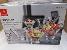Bormioli Rocco  - 8 Piece Multi-Purpose Dish Set - Hand Crafted Italian Glass
