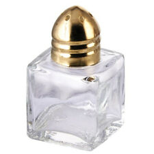 Winco G-101, 0.5-Ounce 2-Inch High Square Salt and Pepper Shaker with Brass Top,