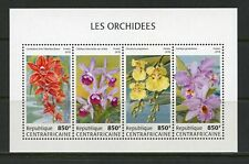 CENTRAL AFRICA 2018 ORCHIDS SHEET MINT NH